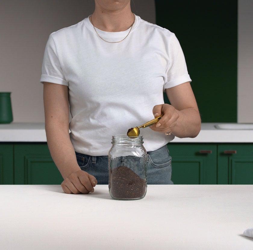 Cold Brew Mason Jar Step 1