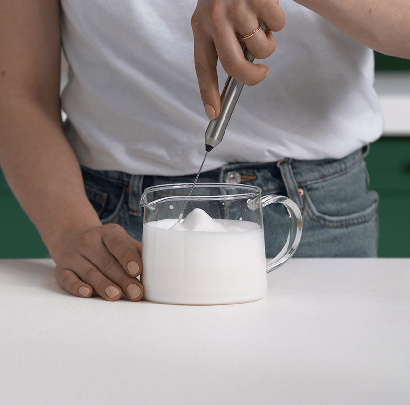 Froth Milk with a Whisk step 4