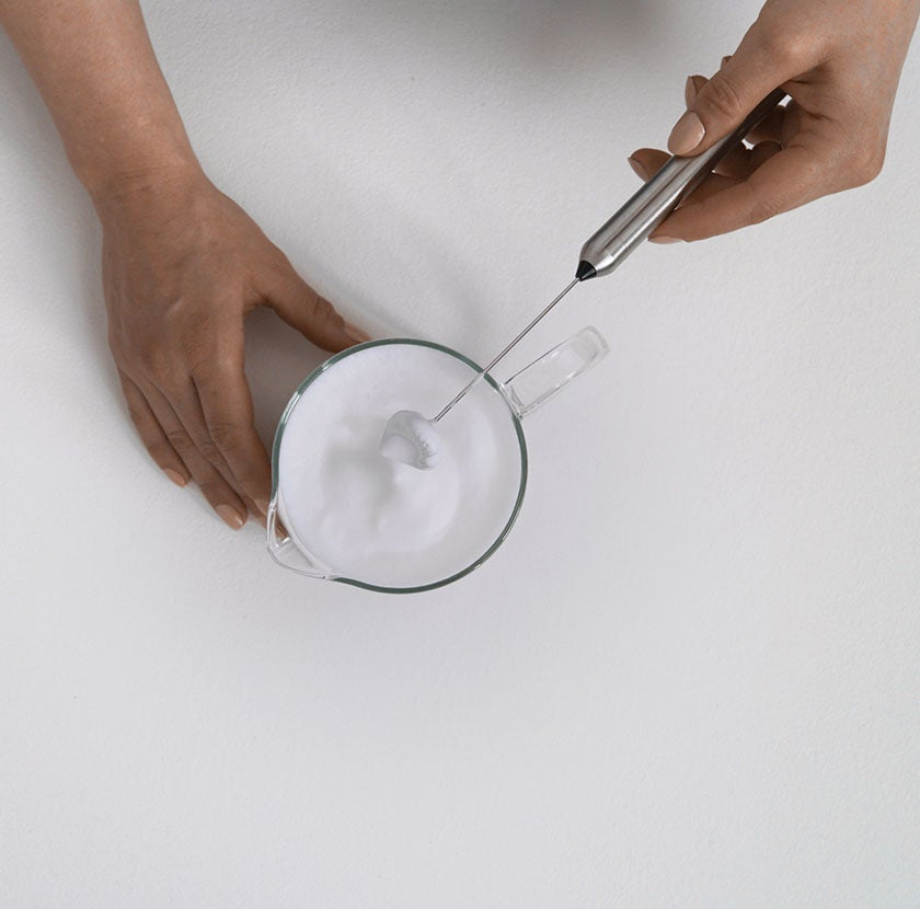 Froth Milk with a Whisk step 5