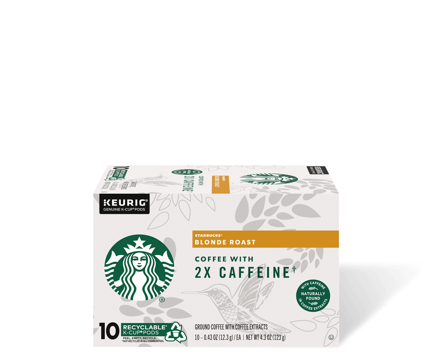 Starbucks® Blonde Roast Coffee With 2X Caffeine