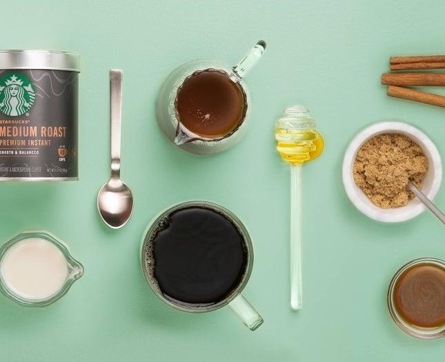 Starbucks® Premium Instant Medium Roast Coffee with mix-ins